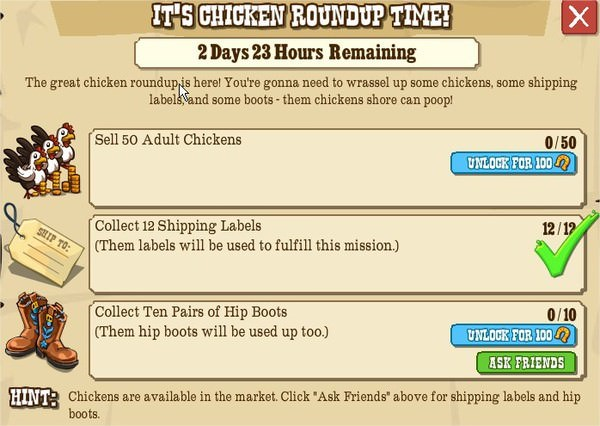 IT'S CHICKEN ROUNDUP TIME!