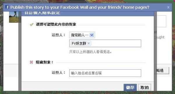 facebook, 選擇發佈對象