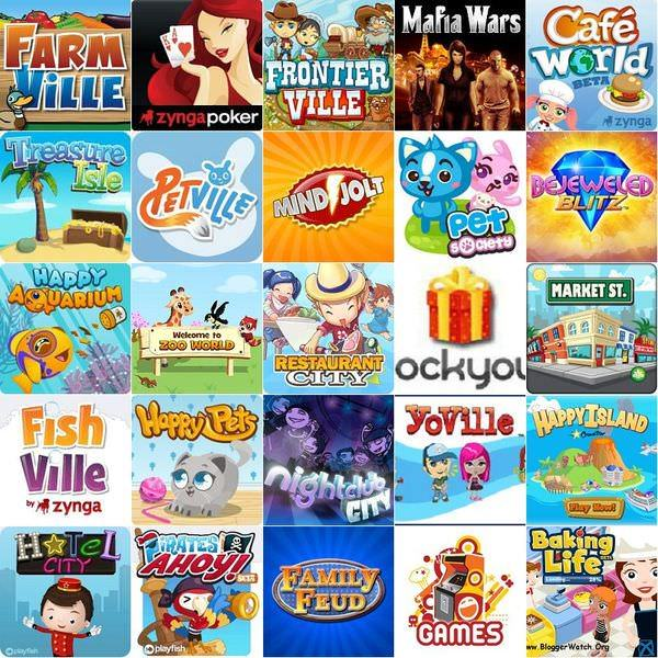 Facebook 最熱門的25個遊戲(2010年9月)