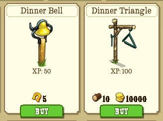 frontierville, dinner bell