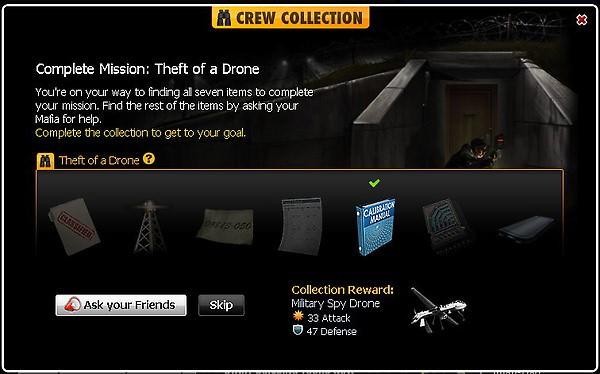mafia wars, crew collection