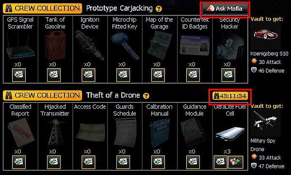 mafia wars, inventory