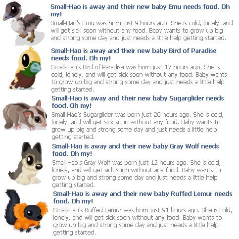 Zoo World 動物baby