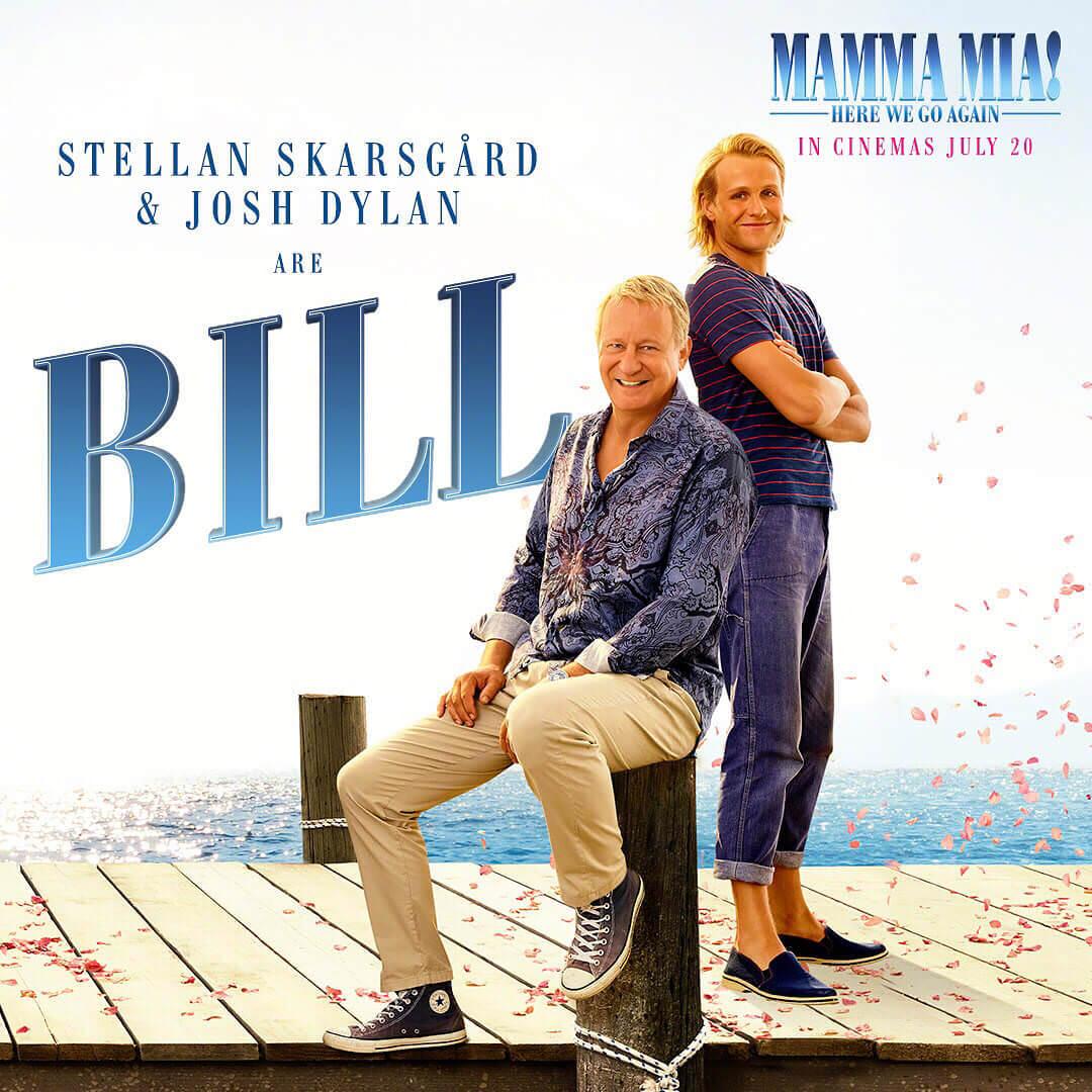 Movie, Mamma Mia! Here We Go Again(美國, 2018) / 媽媽咪呀!回來了(台) / 妈妈咪呀2(中) / 媽媽咪呀!開心再嚟(港), 電影海報, 美國, 角色