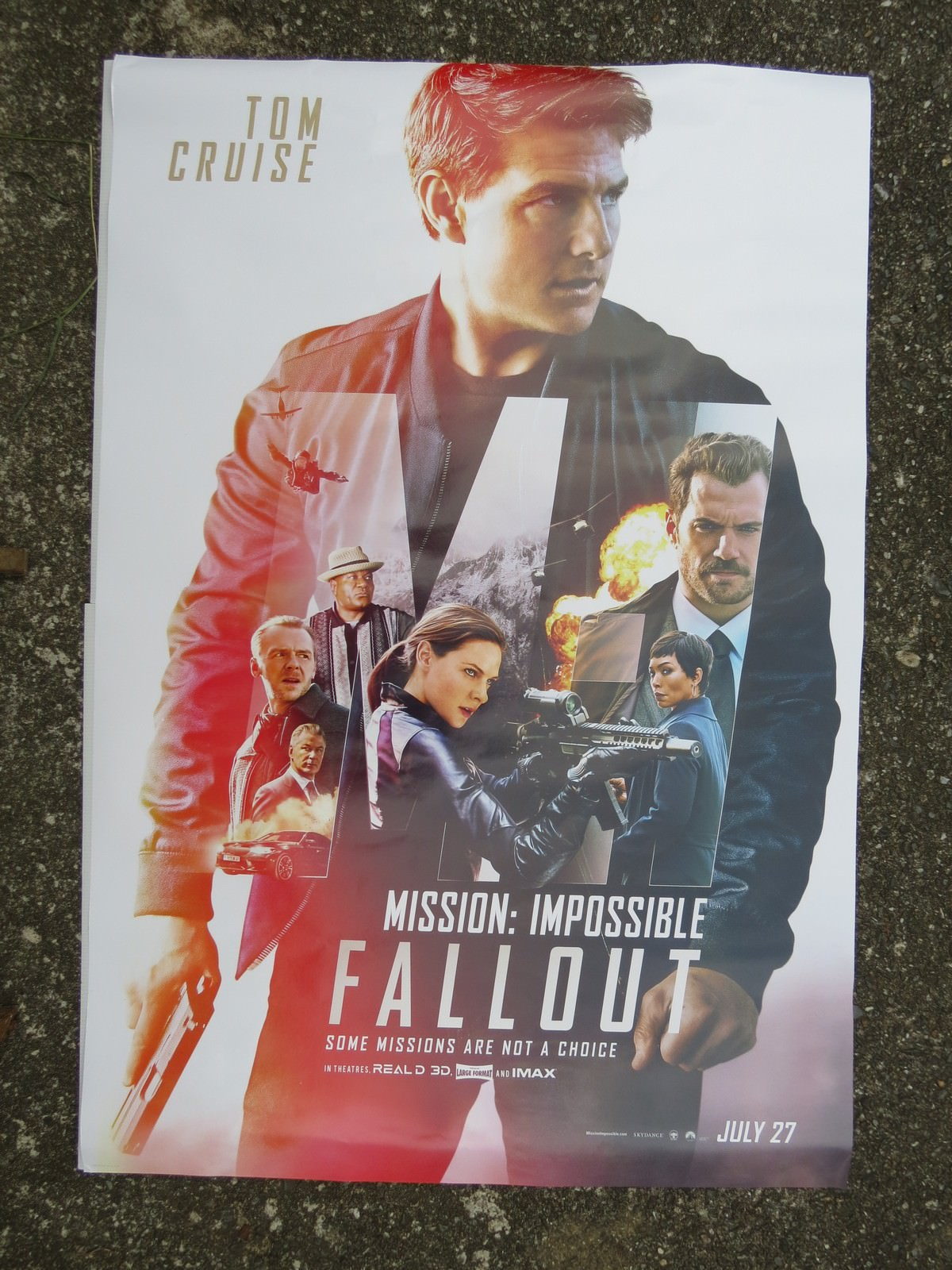 Movie, Mission: Impossible - Fallout(美國, 2018) / 不可能的任務:全面瓦解(台) / 碟中谍6:全面瓦解(中) / 職業特工隊:叛逆之謎(港), 實體海報