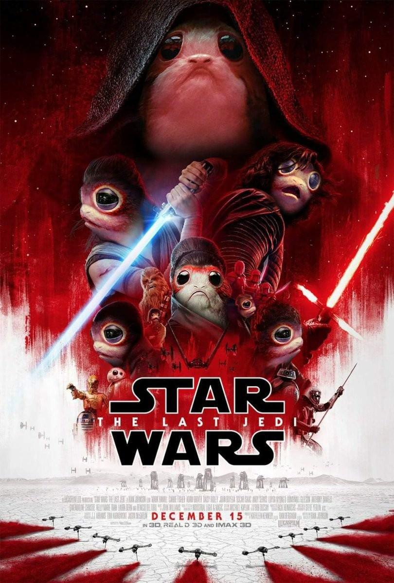 Movie, Star Wars: The Last Jedi(美國, 2017) / STAR WARS:最後的絕地武士(台灣) / 星球大战8:最后的绝地武士(中國) / 星球大戰:最後絕地武士(香港), 電影海報, 網友KUSO