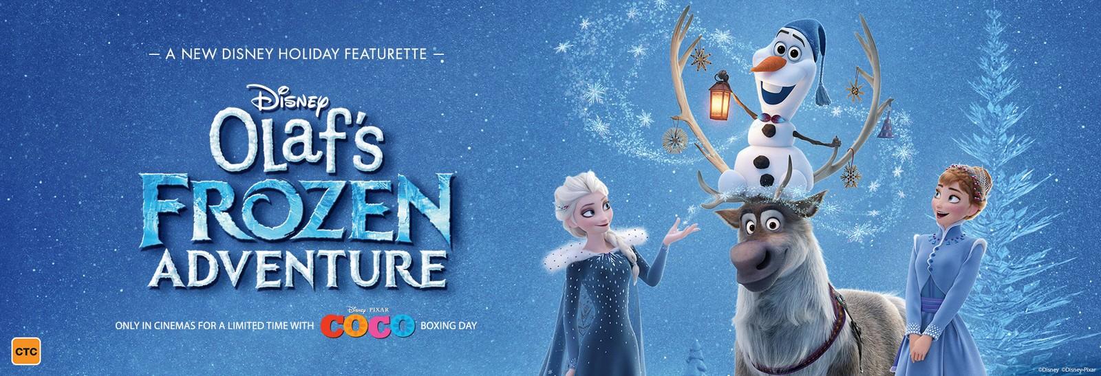 Movie, Olaf's Frozen Adventure(美國, 2017年) / 雪寶的佳節冒險(台灣), 電影海報, 美國, 橫版