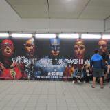 Movie, Justice League(美國, 2017年) / 正義聯盟(台灣.香港) / 正义联盟(中國), 廣告看板, 捷運西門站