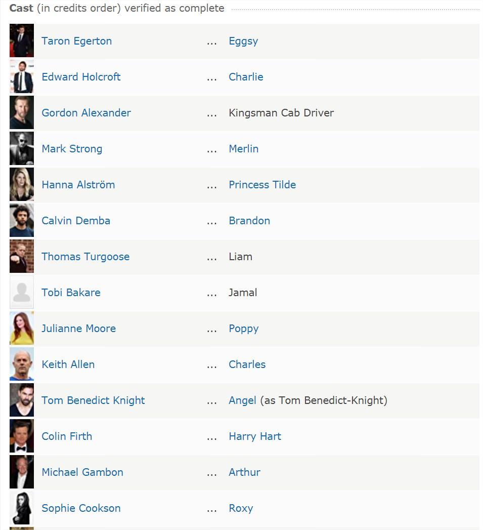 Movie, Kingsman: The Golden Circle(美國, 2017年) / 金牌特務:機密對決(台灣) / 王牌特工2:黄金圈(中國) / 皇家特工:金圈子(香港), 電影資料庫網站