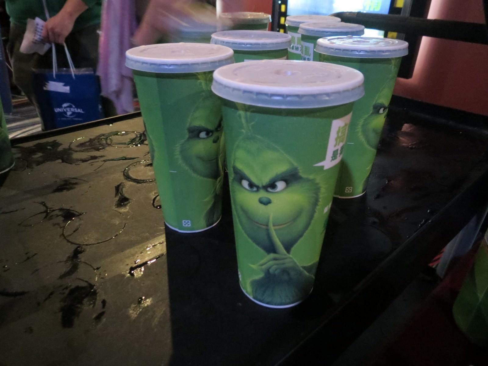 Movie, The Grinch(美國, 2018年) / 鬼靈精(台灣) / 绿毛怪格林奇(中國) / 聖誕怪怪傑(香港), 特映會現場, 飲料
