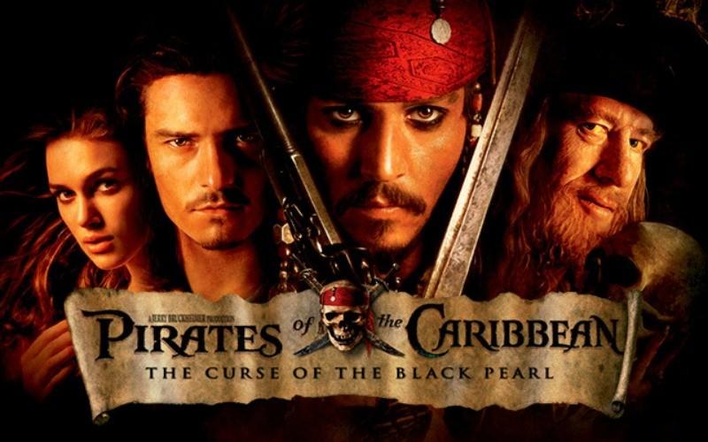 Movie, Pirates of the Caribbean: The Curse of the Black Pearl(美國, 2003年) / 神鬼奇航:鬼盜船魔咒(台灣) / 加勒比海盗(中國) / 魔盜王決戰鬼盜船(香港), 美國, 橫版