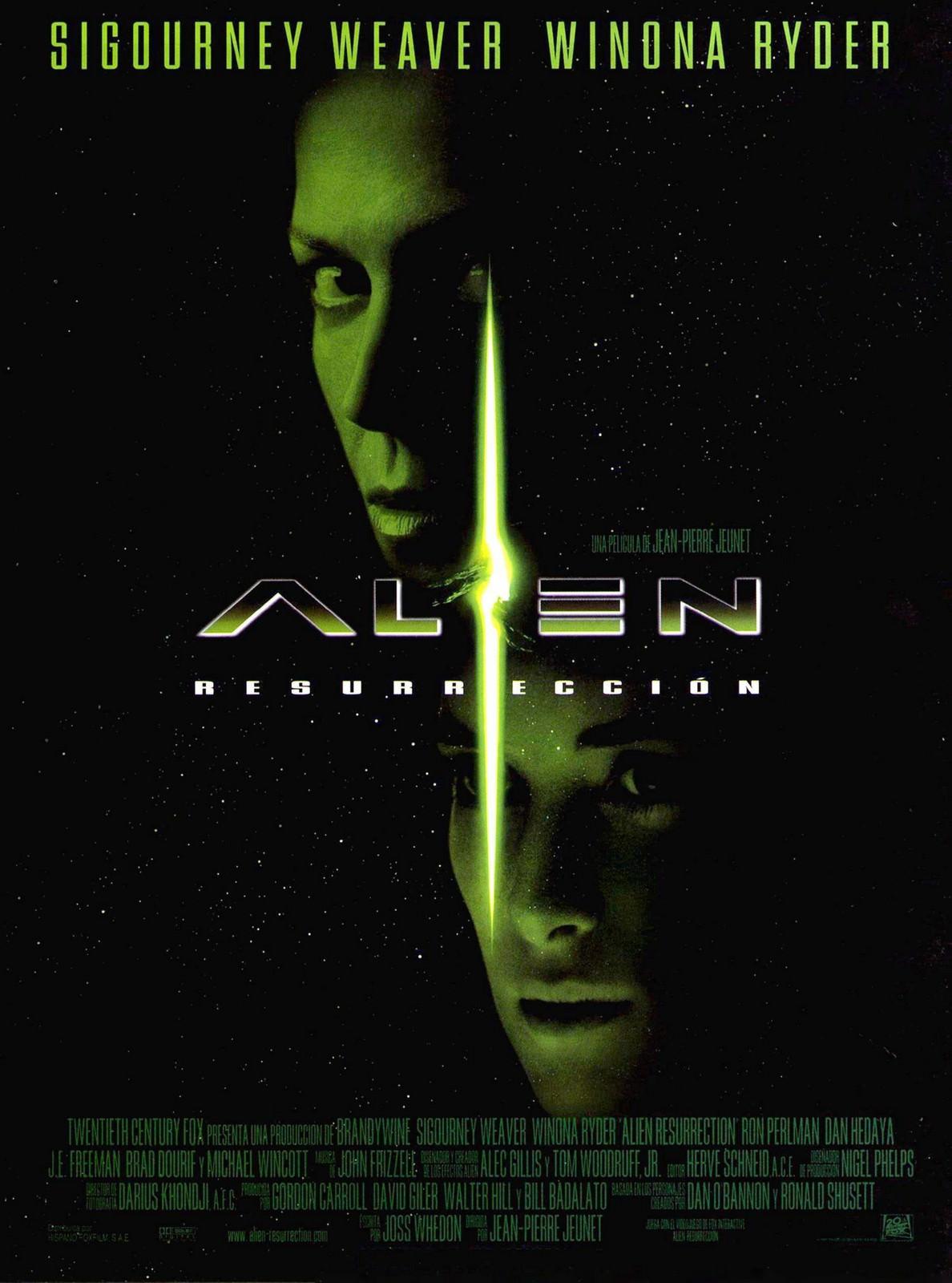 Movie, Alien: Resurrection(美國, 1997年) / 異形4:浴火重生(台灣) / 異形4之逆種(香港) / 异形4(網路), 電影海報, 美國