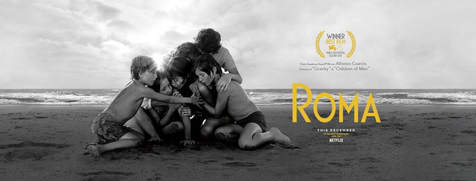Movie, Movie, Roma(墨西哥, 2018年) / 羅馬(台灣) / 罗马(中國), 電影海報, 美國, 橫版