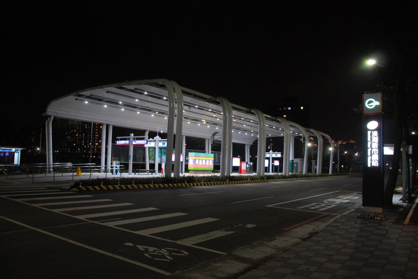 淡海輕軌綠山線, 輕軌淡海新市鎮站, 車站建築主體