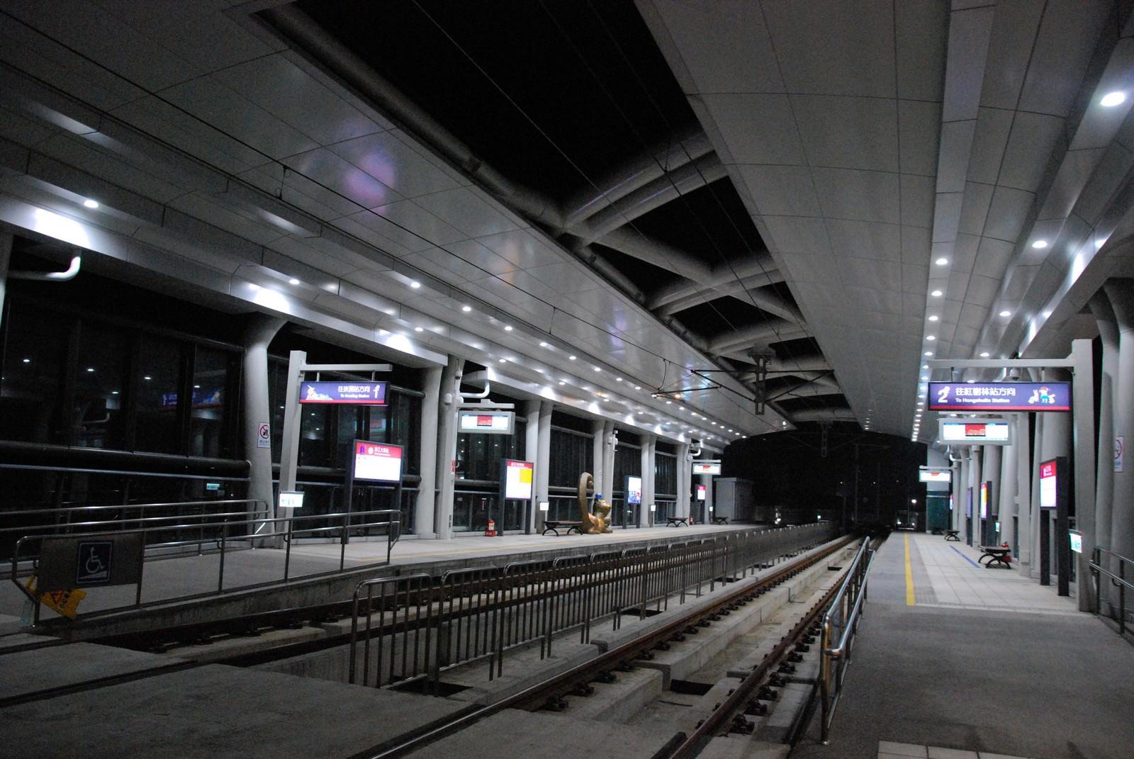 淡海輕軌綠山線, 輕軌淡江大學站, 月台