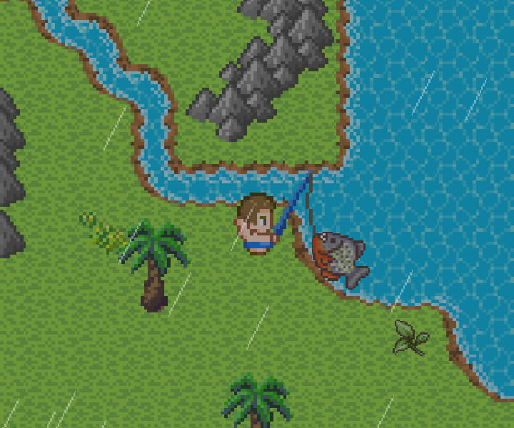 手機遊戲, 無人島大冒險2, 釣魚