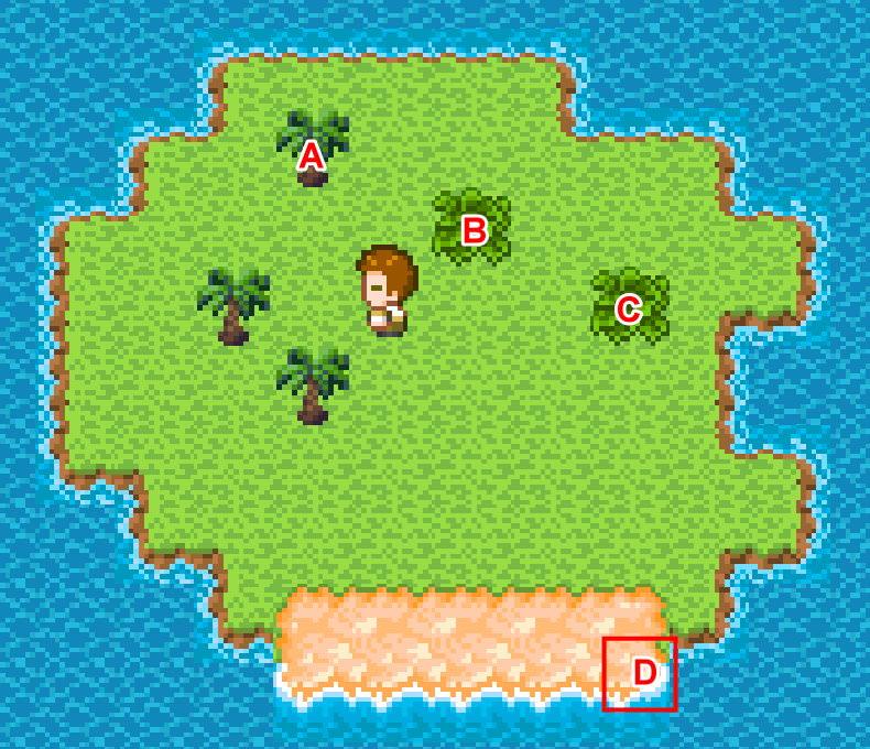 手機遊戲, 無人島大冒險1, 本島