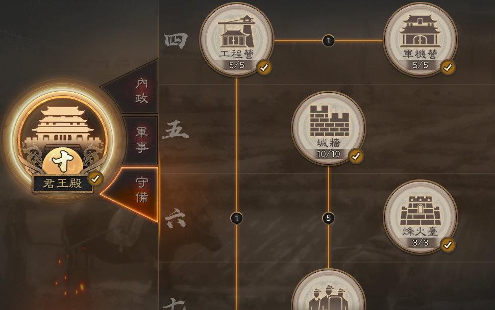 手機遊戲, 三國志・戰略版, 城建, 守備