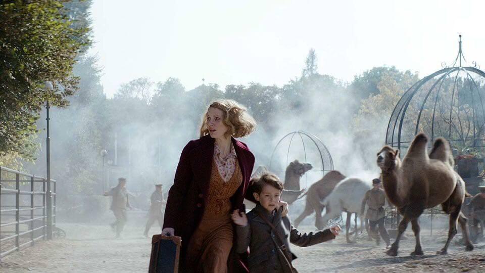 園長夫人:動物園的奇蹟- 潔西卡雀絲坦演什麼像什麼┃影評
