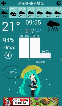 【旅行】日本自助旅行/自由行必備APP推薦-天氣預測類