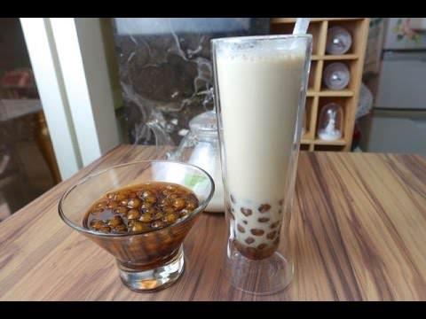 波霸奶茶 珍珠奶茶+黑糖青蛙撞奶 青蛙下蛋How to DIY Boba Milk Tea (Bubble )