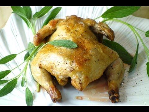 蒜香鯷魚烤春雞 快速年菜 餐廳配方
