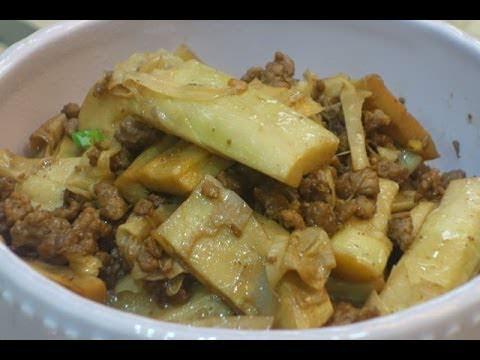 桂竹筍燒肉末 影音 食譜 快炒 筍料理 绞肉