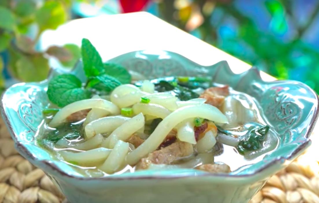 「濃濃鹹香的古早味鹹米苔目,只要5個步驟就能完成!」即將失傳的手工做法,一定要學起來的家常料理