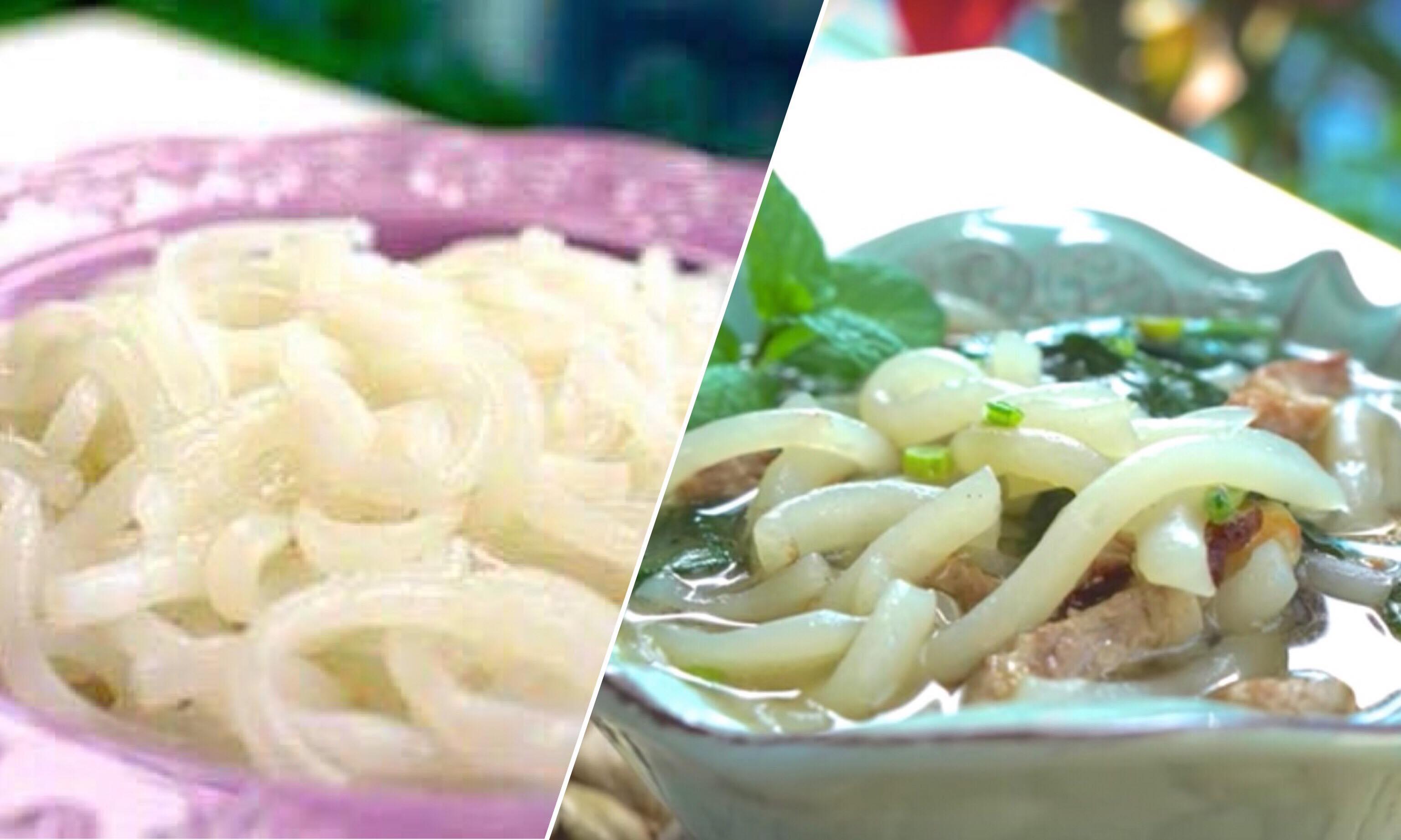 「純手工米苔目/鹹米苔目是這樣做的!」傳統手工做法讓口感更Q彈,還可以甜鹹兩吃!