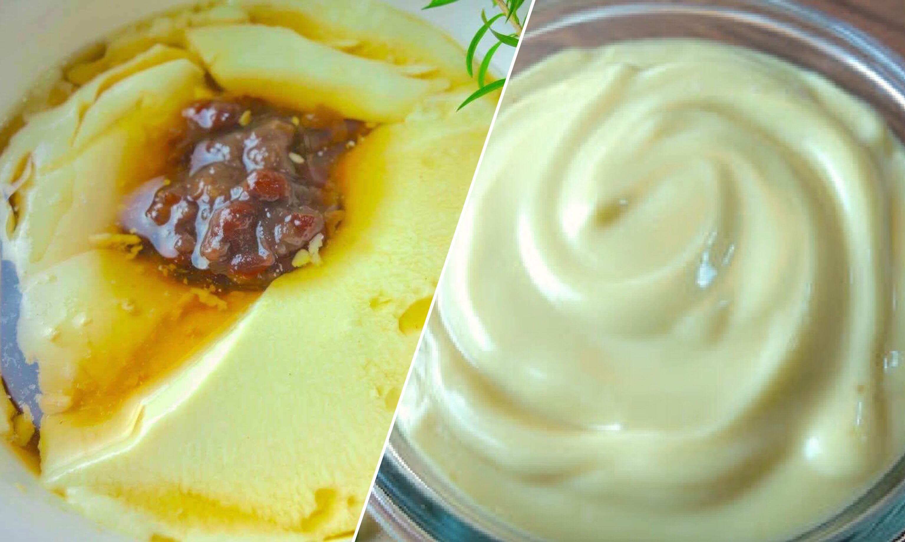 教你用「電鍋煮的濃郁豆漿」做三道料理:豆花、嫩豆腐、沙拉醬