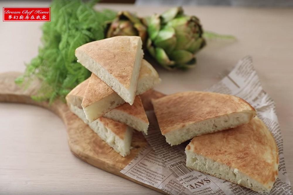 外酥內鬆軟的奶香大餅,超簡單做法新手也能大成功!