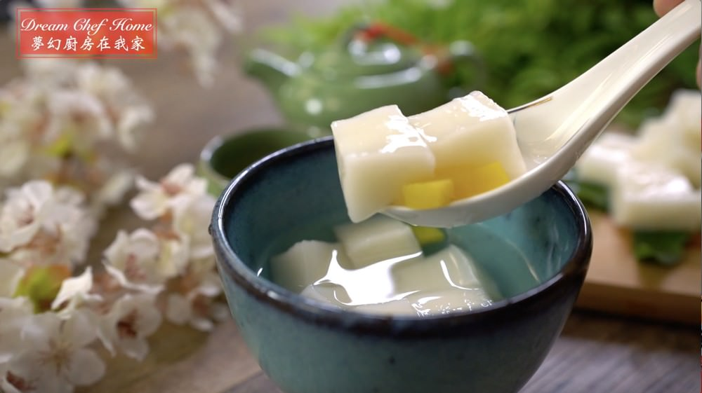 即將失傳的古早味杏仁豆腐,名店配方ㄧ次學會,好吃到流淚版!