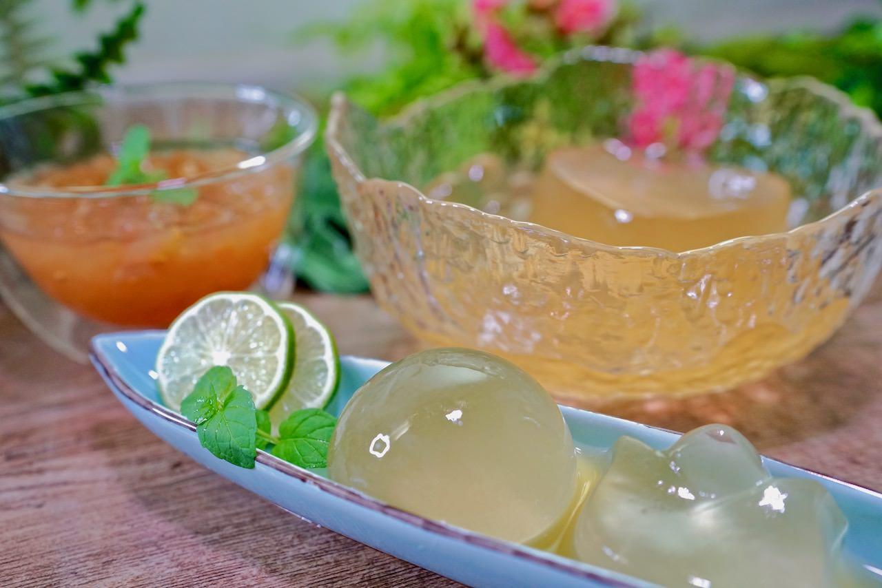 2分鐘快速洗出晶瑩剔透的愛玉凍,畫面太療癒了!檸檬愛玉控糖減重又消暑