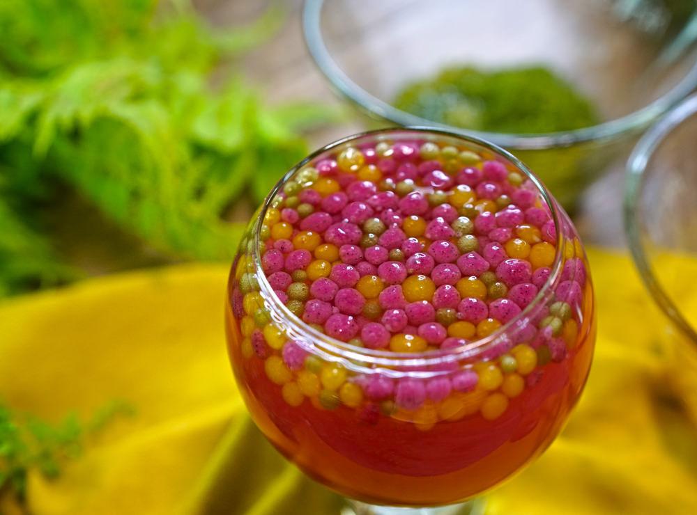 用天然蔬果做爆漿珍珠,爆爆珠在口中炸開的美味真的太驚艷啦!爆漿珍珠做法大公開