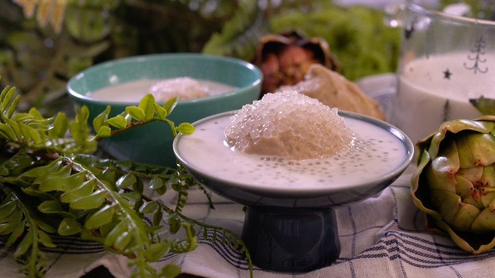 香濃椰汁芋泥西米露,世界最簡單做法!粒粒分明Q彈滑潤