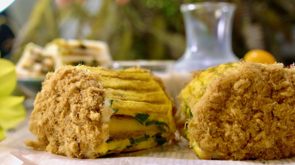 蛋皮肉鬆捲麵包用米做更簡單,鬆軟無麩質超健康!