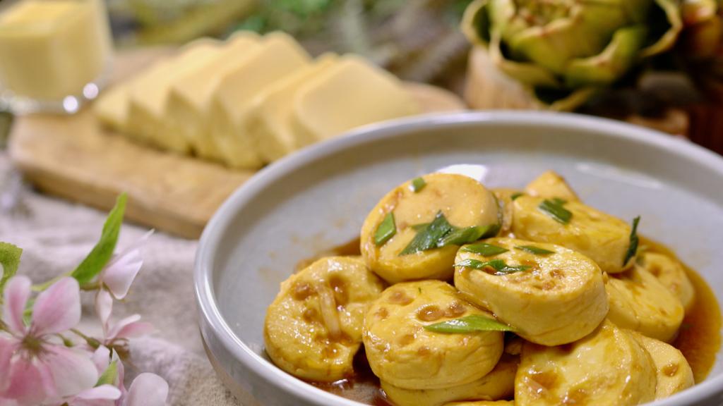 軟嫩雞蛋豆腐自己做超簡單,好吃到停不下來!
