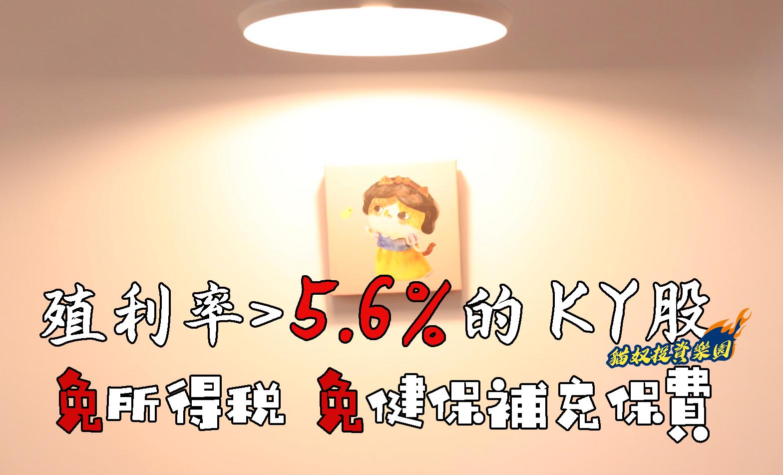 【KY 股篇】免所得稅、免 2 代健保!精選 1 檔 KY 股殖利率高達 5.6%,Q3 將迎旺季!