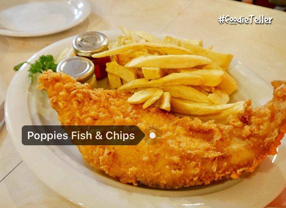 英國|倫敦美食|炸魚薯條經典英國菜 Poppies Fish and Chips!超過半世紀的老店!
