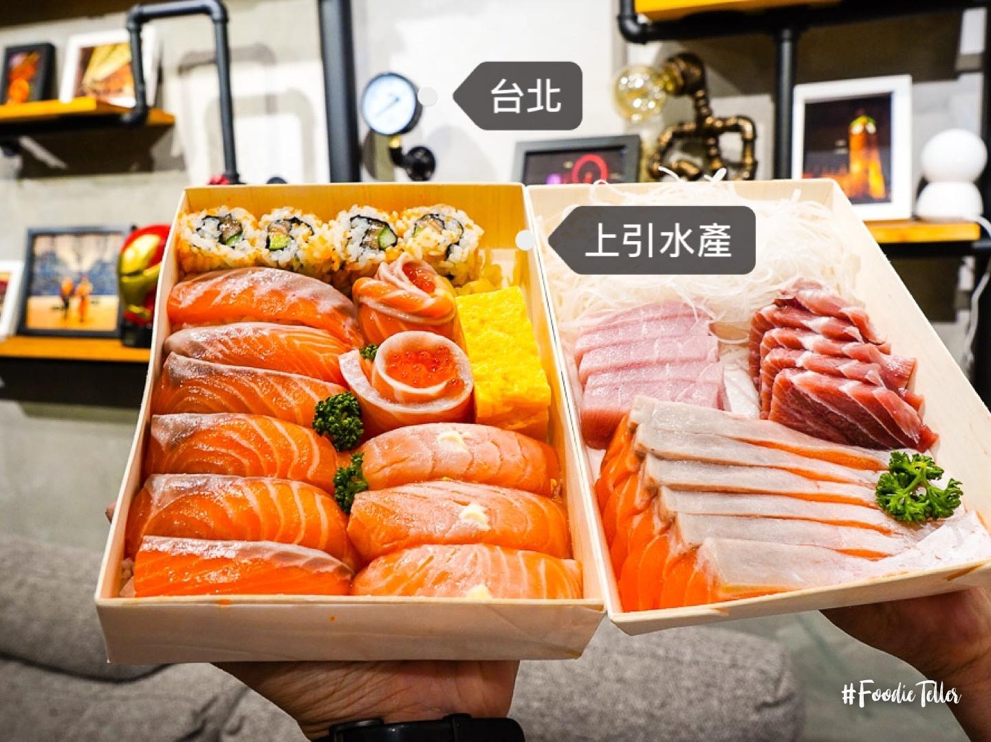 台北上引水產|立吞壽司生魚片去過一次就上癮的台北人魚市場!