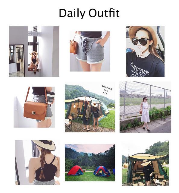 [穿搭] 週末假期的露營時光,靠著穿搭也能展現隨性時尚風!