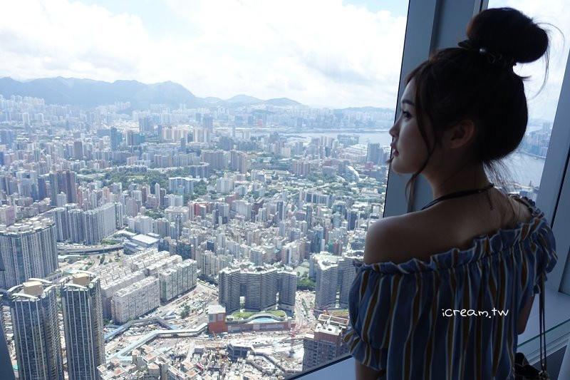 【香港景點】九龍Sky天際100 眺望整個維多利亞港 全港最高觀景台餐廳 Vista 三層英式下午茶