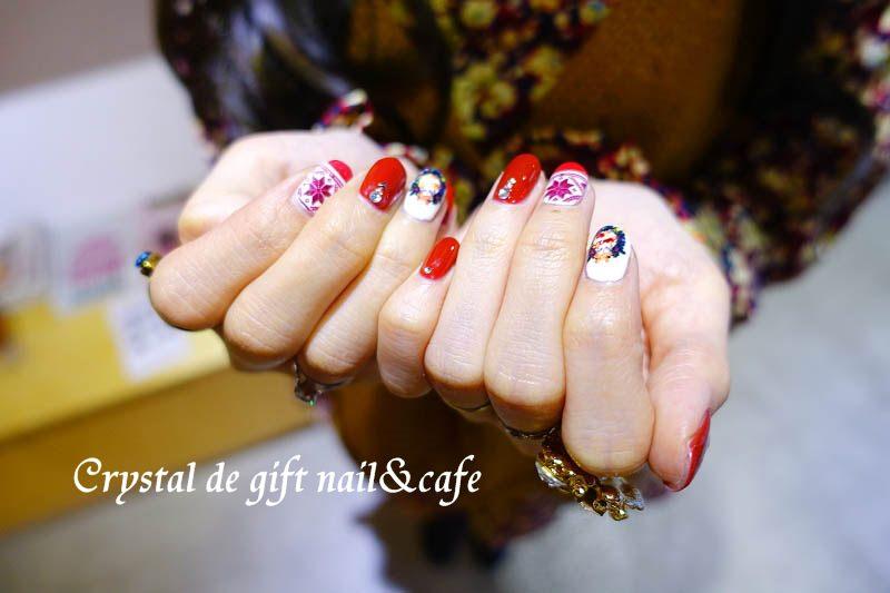 【台北中山】Crystal de gift nail & cafe – 聖誕節彩繪 超快速指甲印表機 凝膠 中山捷運站美甲