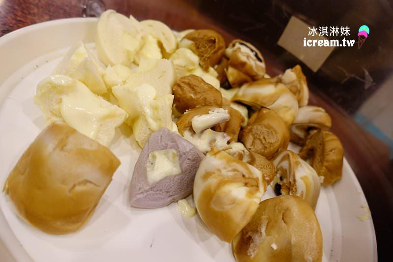 義珍香,牛奶吐司,爆醬饅頭