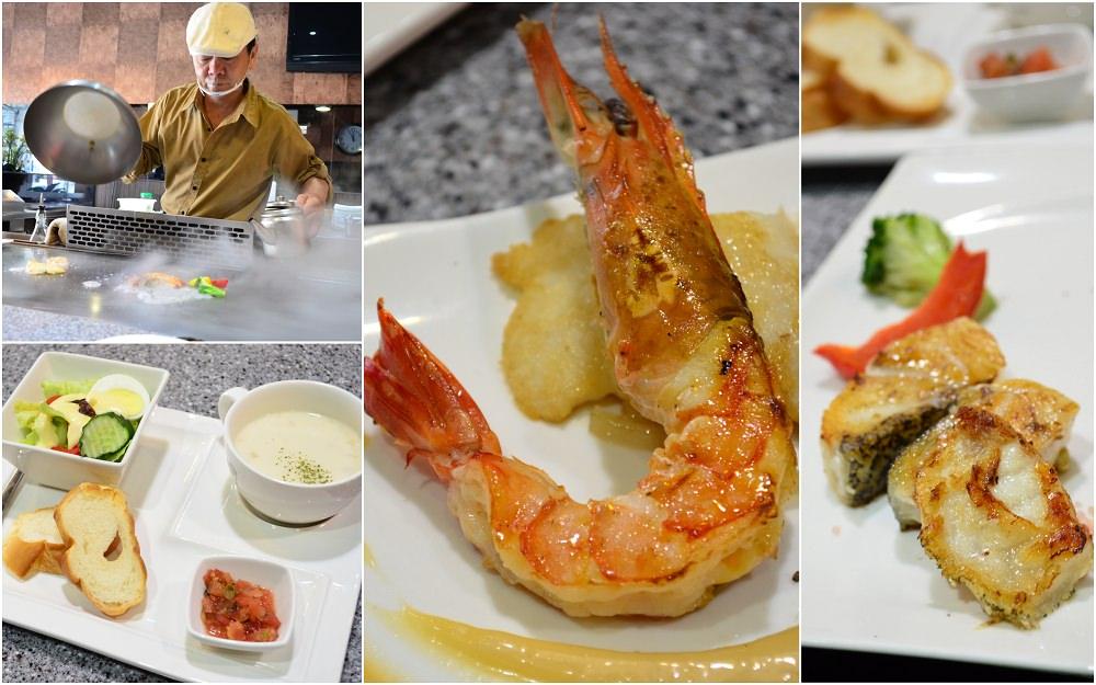 台中美食_86海鮮創意鐵板料理│台中新店開幕,點套餐,直接就能品嘗到霸王鮮蝦!