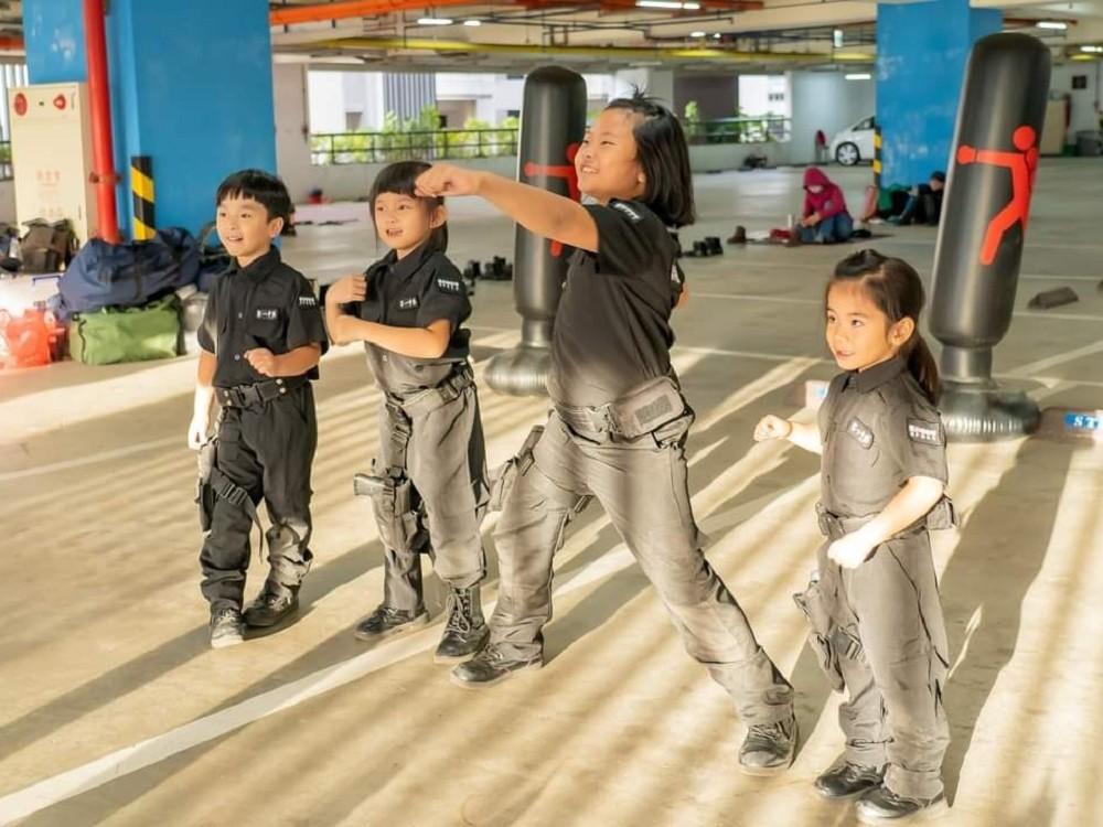 小兵日記兒童軍事體驗營 小孩角色扮演 小孩cosplay 小孩 憲兵特勤隊
