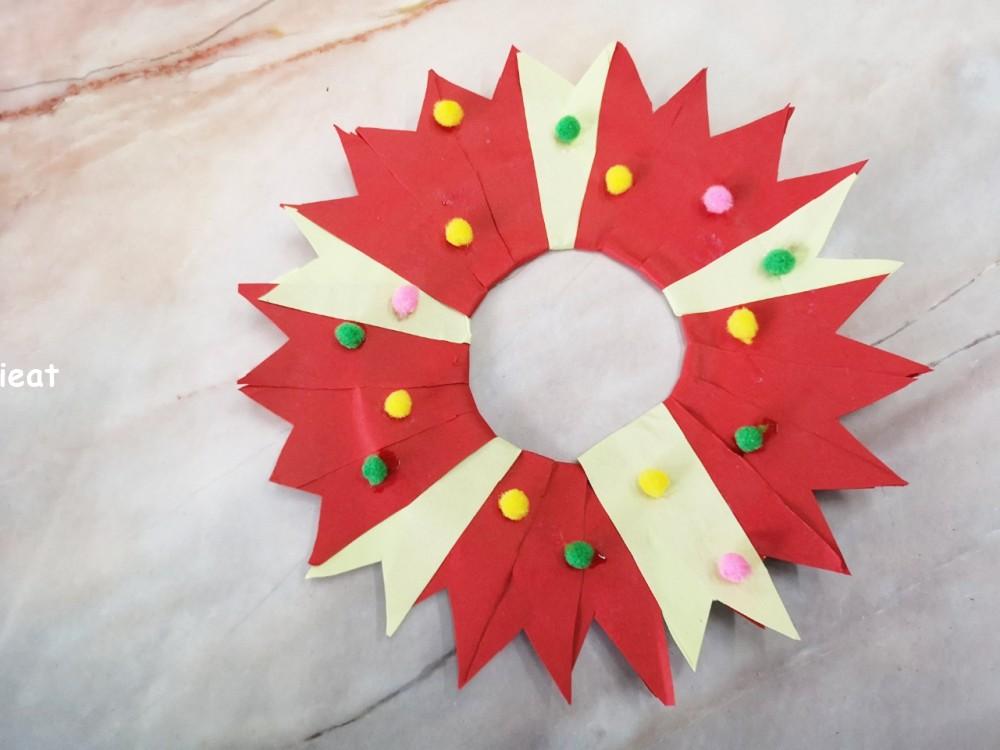 簡易版花圈 聖誕花圈diy 花圈diy 初階花圈diy