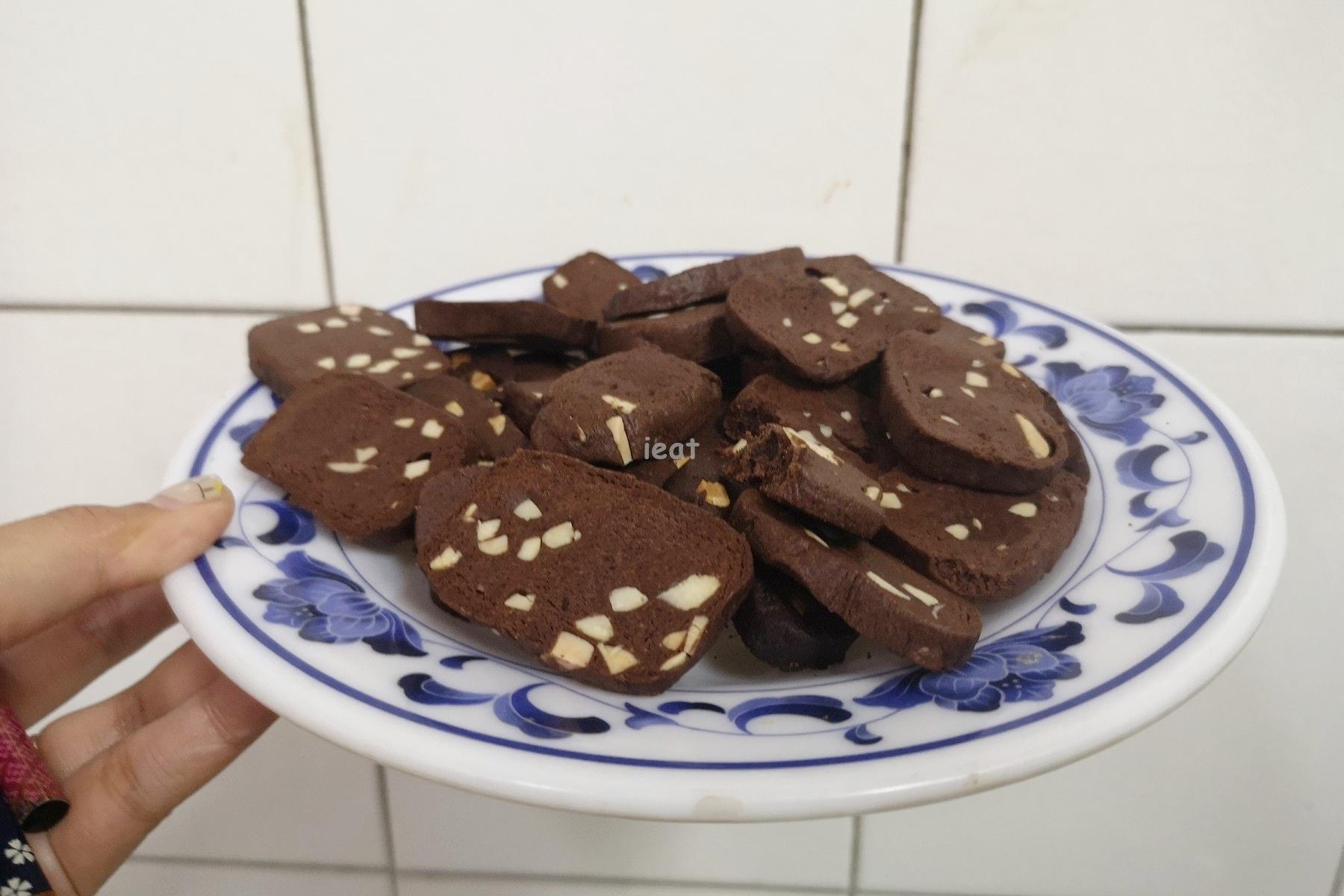 簡易甜點 入門款甜點 簡單甜點 巧克力餅乾 巧克力杏仁餅乾