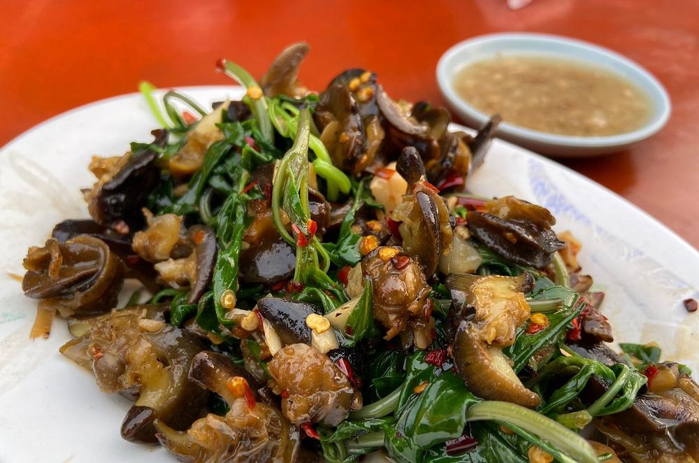 生炒螺肉│嘉義文化路小吃,嘉義美食,嘉義螺肉。