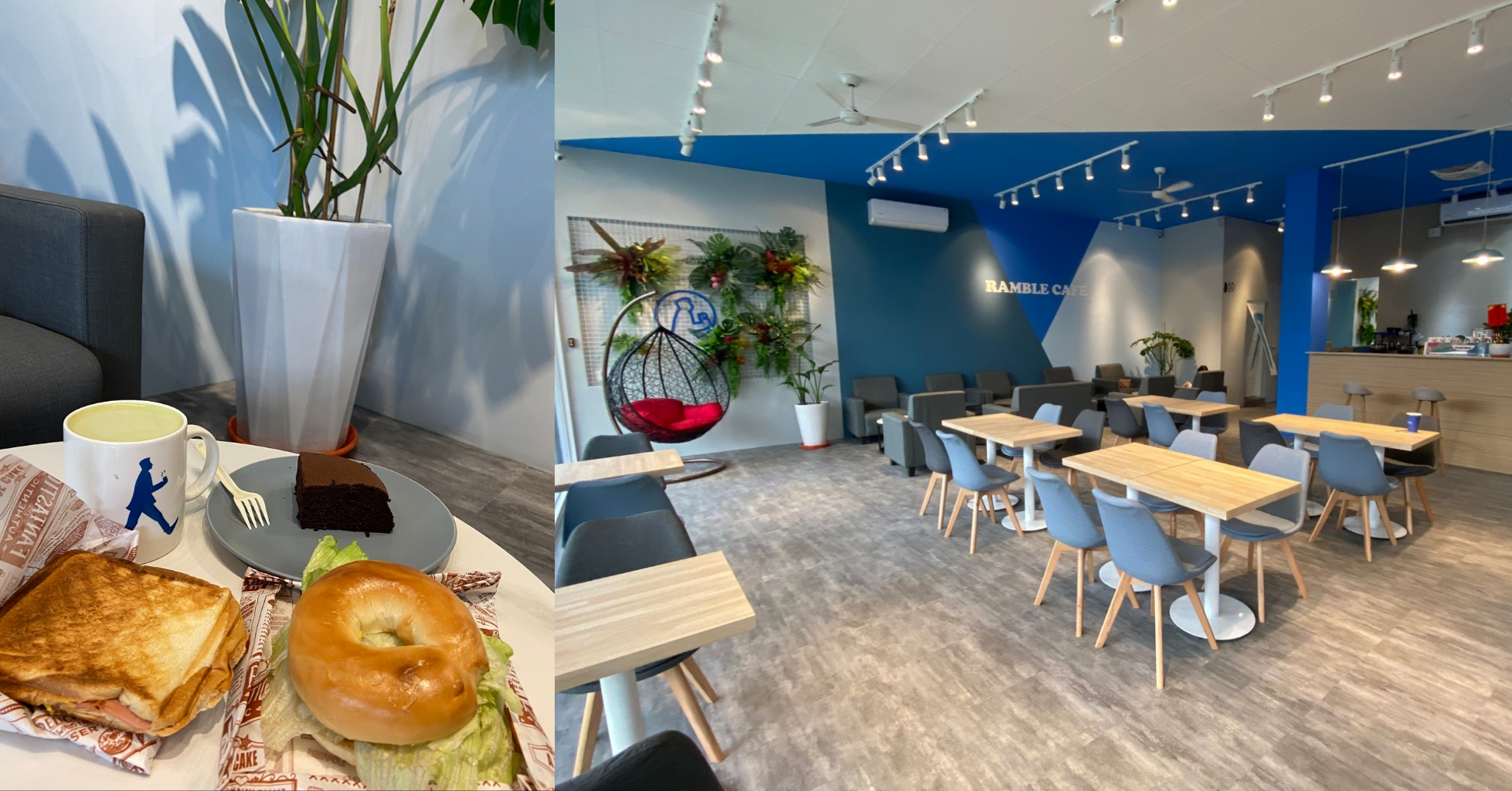 Ramble-cafe 漫步藍咖啡 田中美食 田中咖啡 田中下午茶